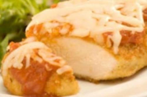 Pechugas de pollo parmesanas