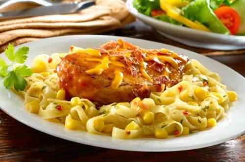 Over-The-Top BBQ Chicken Pasta Skillet