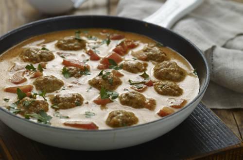 Albóndigas al curry sencillas