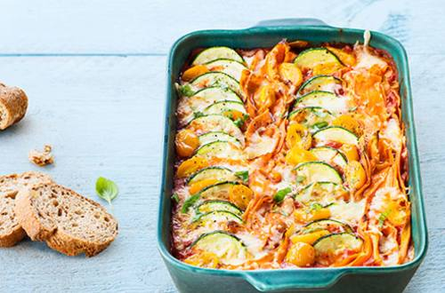 Gratin de ratatouille colorée