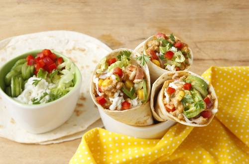 Knorr - Kunterbunter Kinder-Wrap mit Mais, Paprika und Schinken