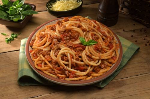 Foratti Knorr en salsa boloñesa