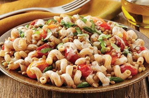 Lemon Pasta with Pan Roasted Tomatoes