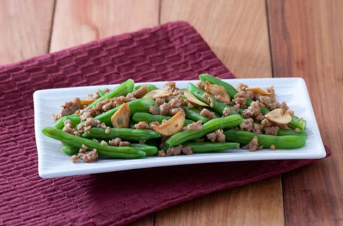 Stir Fried Ground Pork with Beans Recipe