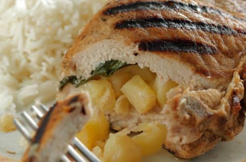 «Кармашки» из свинины с ананасами