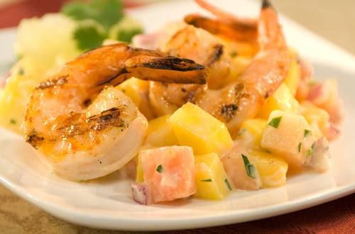 Tropical Grilled Shrimp Cocktail
