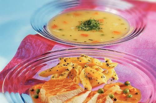 Knorr - Minutensteaks auf Kohlrabi-Pfeffergemüse