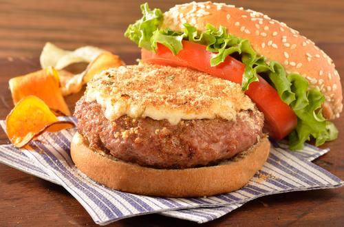 Parmesan Crusted Turkey Burgers
