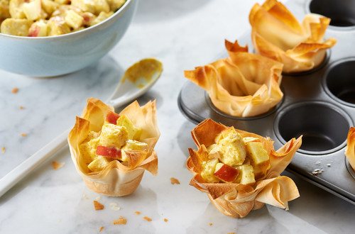 Curried Chicken & Apple Tartlets