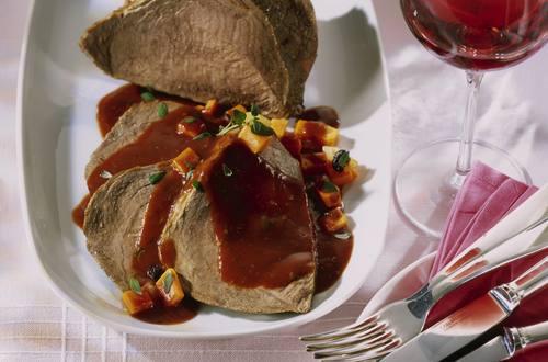 Knorr - Rinderbraten mit Rotweinsauce