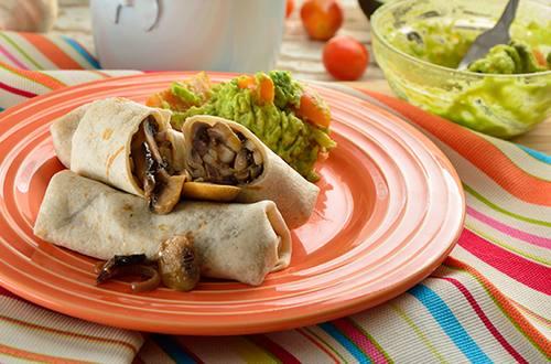 Burritos de champiñones