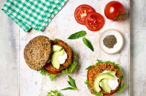 Rice & Quinoa Sweet Potato Burgers