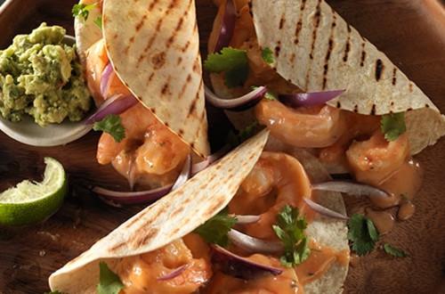 Tacos Crémeux aux Crevettes et Chipotle