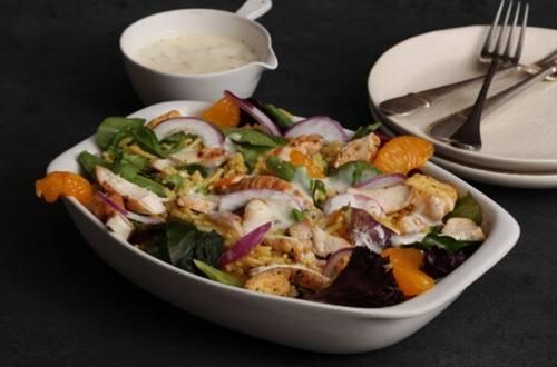 Mandarin Chicken Salad with Fried Rice