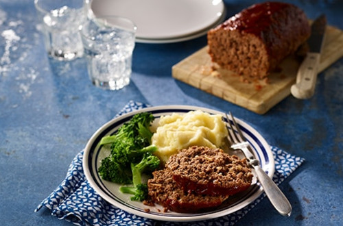 Homemade Glazed Meatloaf