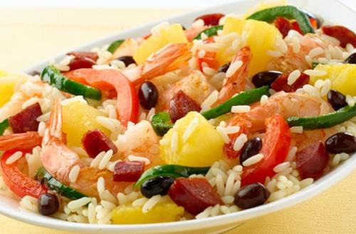 Caribbean Poblano Fried Rice