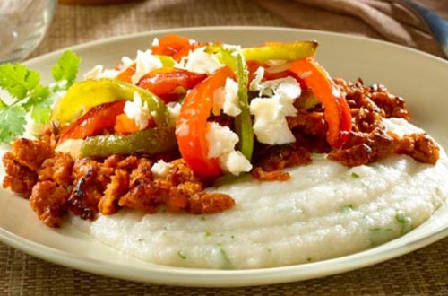 Masa Polenta with Sausage & Peppers