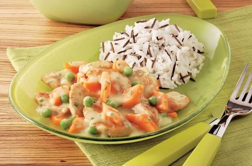 Knorr - Schnelles Geschnetzeltes mit Erbsen und Kürbis