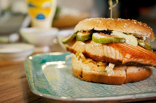 Salmón Samurai Burger