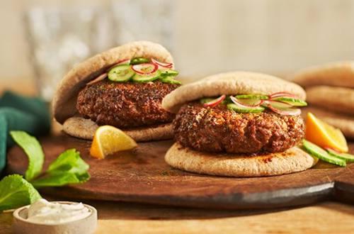 Burgers de bœuf aux épices marocaines