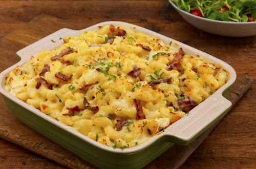 macaroni cheese with bacon