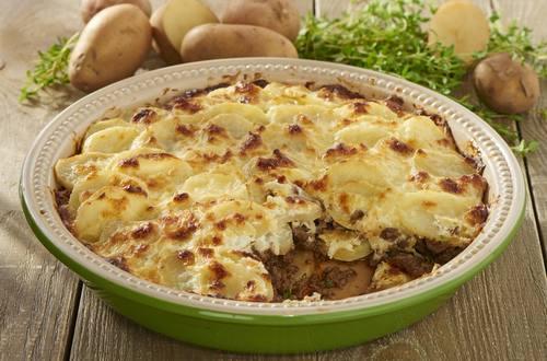 Kartoffelauflauf mit Faschiertem