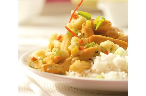 Indiase curry met bloemkool en kip