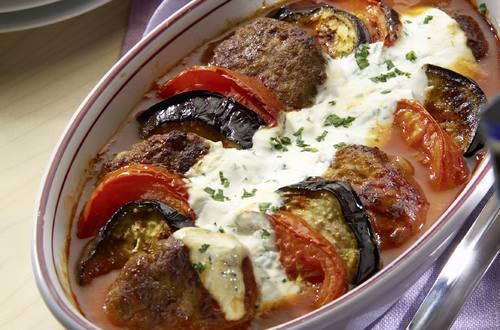 Knorr - Auberginen und Lamm aus dem Ofen