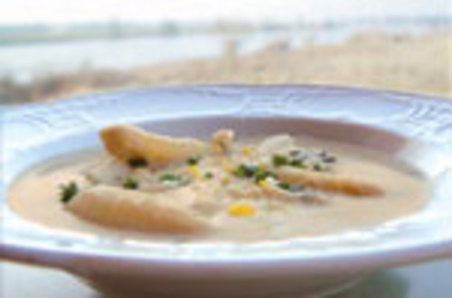 Asperge Crèmesoep met gorgonzola
