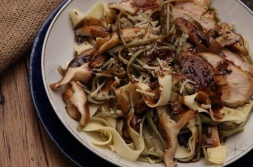 Balsamic Chicken & Pasta Skillet