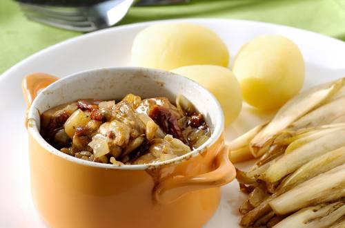 Ragoût de poulet aux tomates séchées et vinaigre balsamique