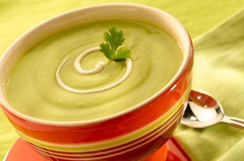 Avocado Soup with Chipotle Cream