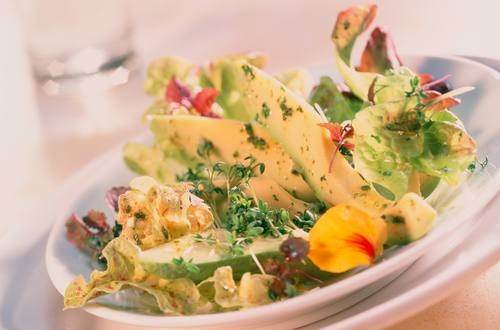 Knorr - Eichblattsalat mit Avocado und Kresse
