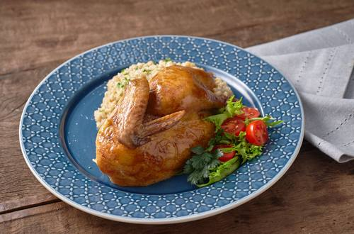 Roast Chicken with Barley Porridge