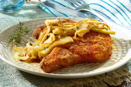 Chipotle Pork Chops with Apples & Onions