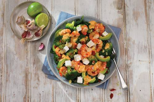Tiger Prawn Salad with Veggies