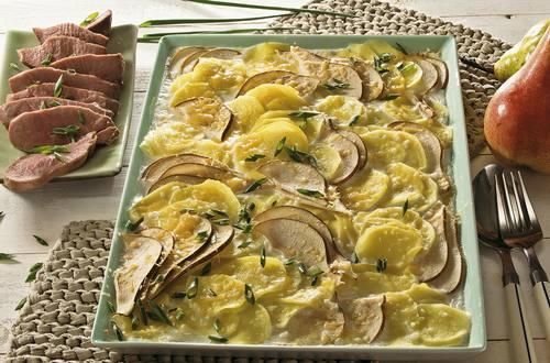 Knorr - Entenbrust mit Kartoffel-Birnen-Gratin