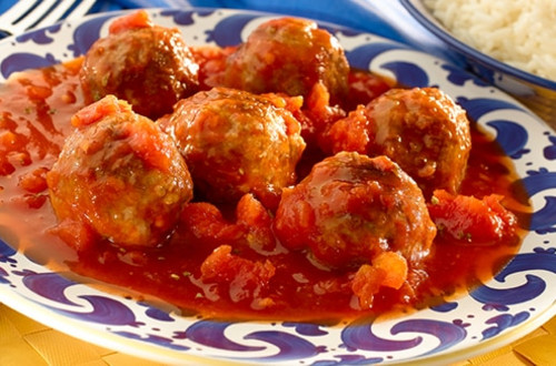 Meatballs in Chipotle Tomato Sauce