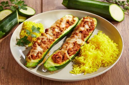 Knorr - Gefüllte Zucchini mit Hackfleisch