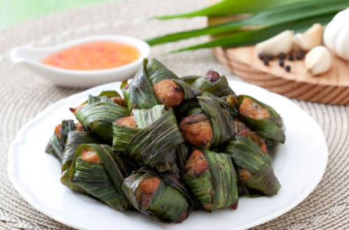 Thai Chicken in Pandan Leaves Recipe
