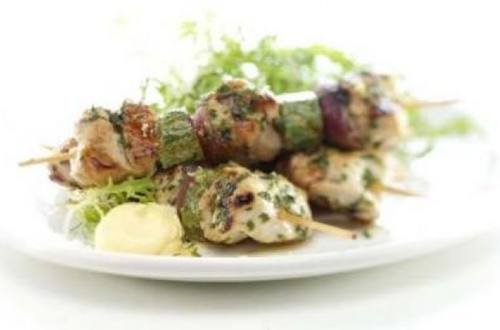 Brochettes de pollo light a la hellmann?s