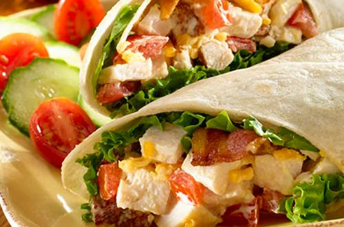 Cheese BLT Turkey Wrap