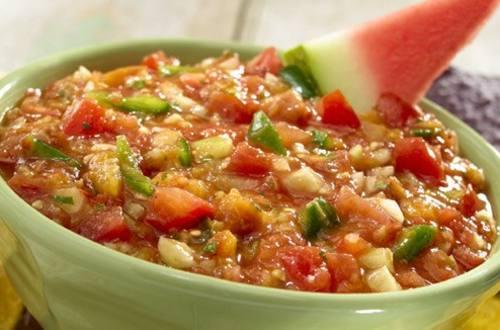Salsa de frutas asadas y pepino