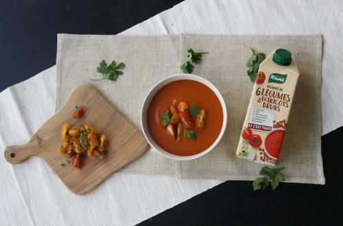 Tomates cerises et soupe Knorr