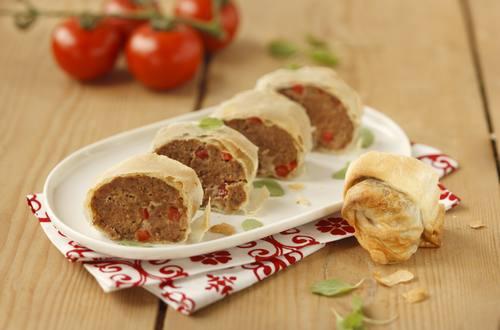 Knorr - Strudel mit Faschiertem und Tomaten