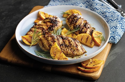 Grilled Herb-Rubbed Chicken