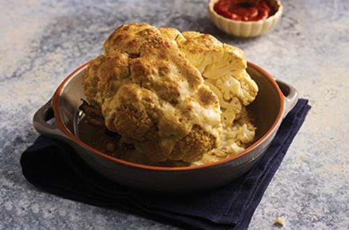 Whole Roasted Cauliflower Alfredo