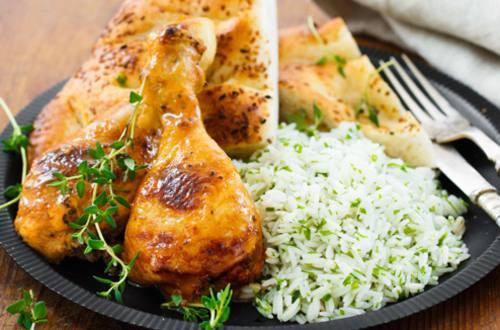 Otlu Pilav ile Tahin Pekmezli Tavuk
