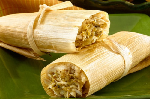 Chicken Tamales with Green Chile