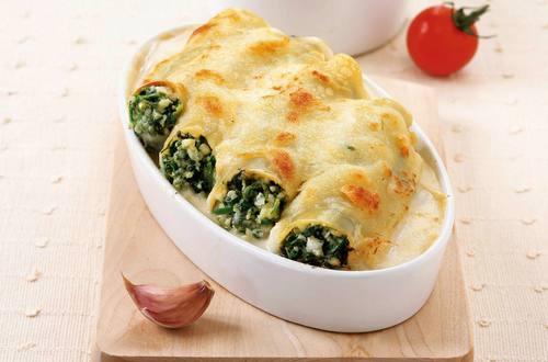Knorr - Cannelloni mit Bärlauch und Schafskäse